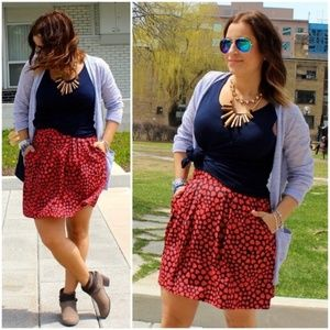 J. CREW Heart Print Heartthrob A Line Mini Skirt 2